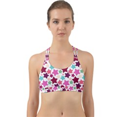 Stars Pattern Back Web Sports Bra