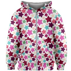 Stars Pattern Kids Zipper Hoodie Without Drawstring