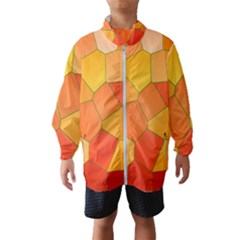 Background Pattern Of Orange Mosaic Windbreaker (kids)