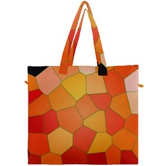 Background Pattern Of Orange Mosaic Canvas Travel Bag by Samandel