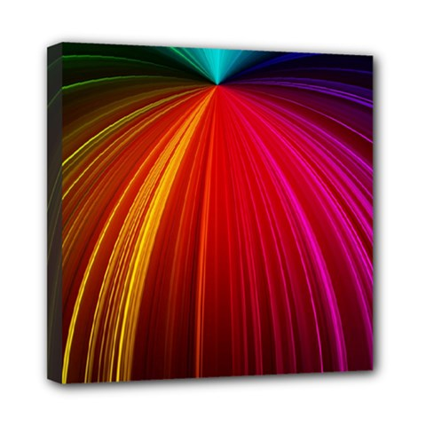 Background Color Colorful Rings Mini Canvas 8  X 8  (stretched)