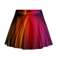 Background Color Colorful Rings Mini Flare Skirt