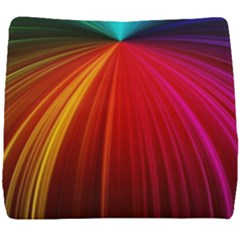Background Color Colorful Rings Seat Cushion