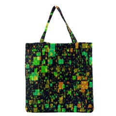Squares And Rectangles Background Grocery Tote Bag