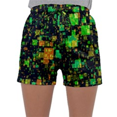 Squares And Rectangles Background Sleepwear Shorts