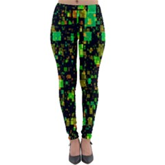 Squares And Rectangles Background Lightweight Velour Leggings