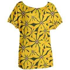 Texture Flowers Nature Background Women s Oversized Tee