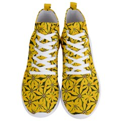 Texture Flowers Nature Background Men s Lightweight High Top Sneakers