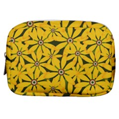 Texture Flowers Nature Background Make Up Pouch (small) by Samandel
