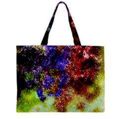 Splashes Of Color Background Zipper Mini Tote Bag by Samandel