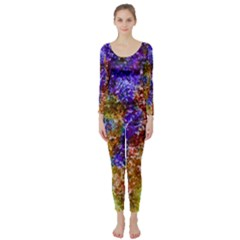 Splashes Of Color Background Long Sleeve Catsuit