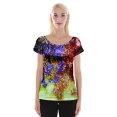 Splashes Of Color Background Cap Sleeve Top
