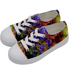 Splashes Of Color Background Kids  Low Top Canvas Sneakers by Samandel