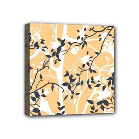 Floral Pattern Background Mini Canvas 4  X 4  (stretched)