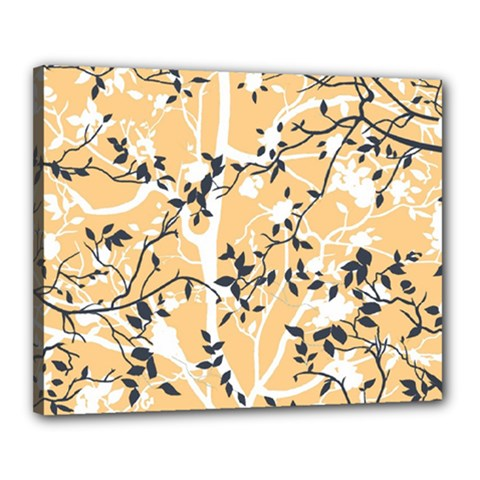 Floral Pattern Background Canvas 20  X 16  (stretched)