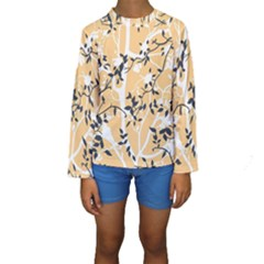 Floral Pattern Background Kids  Long Sleeve Swimwear by Samandel