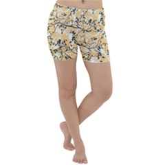 Floral Pattern Background Lightweight Velour Yoga Shorts