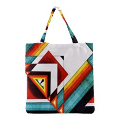 Diamond Acrylic Paint Pattern Grocery Tote Bag