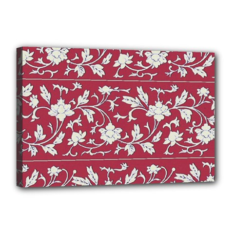 Floral Pattern Background Canvas 18  X 12  (stretched)