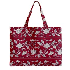Floral Pattern Background Zipper Mini Tote Bag by Samandel