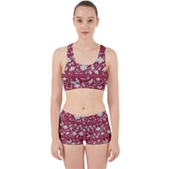 Floral Pattern Background Work It Out Gym Set