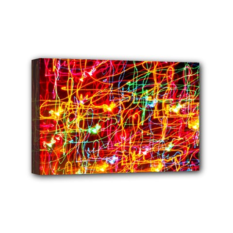 Random Colored Light Swirls Mini Canvas 6  X 4  (stretched)