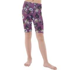 Beautiful Floral Pattern Background Kids  Mid Length Swim Shorts
