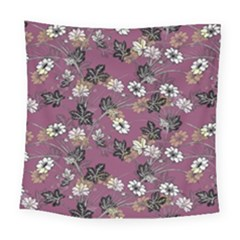 Beautiful Floral Pattern Background Square Tapestry (large)