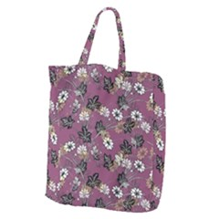 Beautiful Floral Pattern Background Giant Grocery Tote