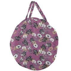 Beautiful Floral Pattern Background Giant Round Zipper Tote