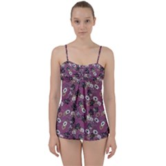 Beautiful Floral Pattern Background Babydoll Tankini Set