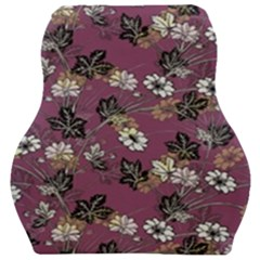 Beautiful Floral Pattern Background Car Seat Velour Cushion  by Samandel