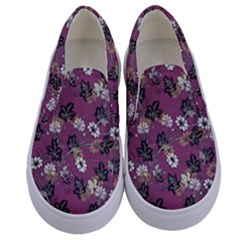 Beautiful Floral Pattern Background Kids  Canvas Slip Ons