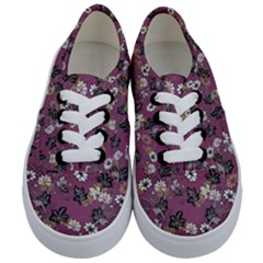 Beautiful Floral Pattern Background Kids  Classic Low Top Sneakers