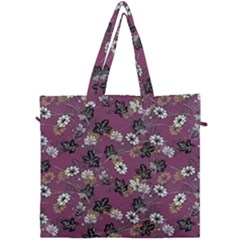 Beautiful Floral Pattern Background Canvas Travel Bag by Samandel