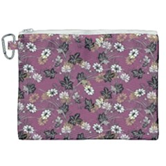 Beautiful Floral Pattern Background Canvas Cosmetic Bag (xxl)