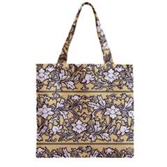 Floral Pattern Background Zipper Grocery Tote Bag by Samandel