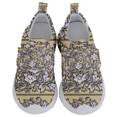 Floral Pattern Background Velcro Strap Shoes