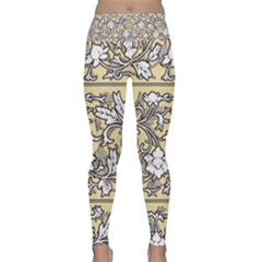 Floral Pattern Background Lightweight Velour Classic Yoga Leggings