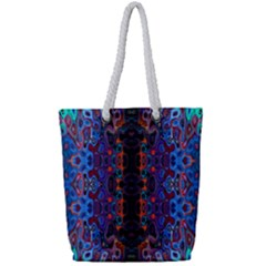 Kaleidoscope Art Pattern Ornament Full Print Rope Handle Tote (small)