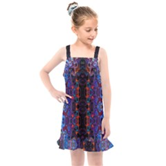 Kaleidoscope Art Pattern Ornament Kids  Overall Dress