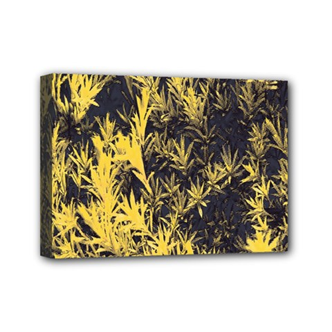 Artistic Yellow Background Mini Canvas 7  X 5  (stretched)
