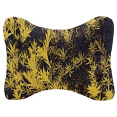 Artistic Yellow Background Velour Seat Head Rest Cushion
