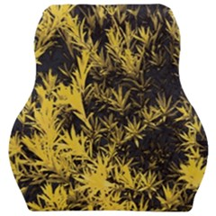 Artistic Yellow Background Car Seat Velour Cushion  by Samandel