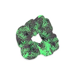 Green Etched Background Velvet Scrunchie