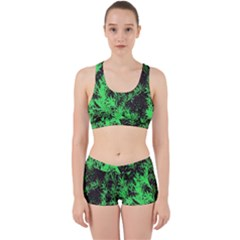 Green Etched Background Work It Out Gym Set
