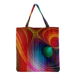 Background Color Colorful Rings Grocery Tote Bag