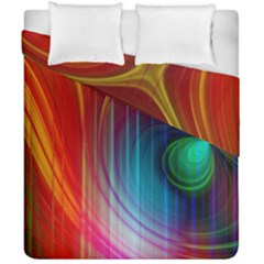 Background Color Colorful Rings Duvet Cover Double Side (california King Size)