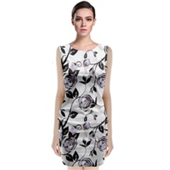 Floral Pattern Background Classic Sleeveless Midi Dress