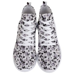 Floral Pattern Background Men s Lightweight High Top Sneakers